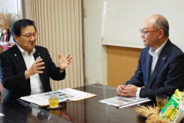 江別市三好市長と対談をしました。