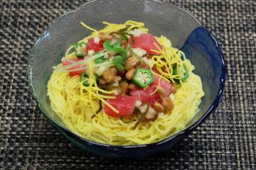 まぐろと納豆のネバネバ涼麺