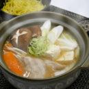 ラーメンスープでつくる白味噌鍋